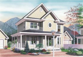Country , Traditional House Plan 65203 with 3 Beds, 2 Baths Elevation
