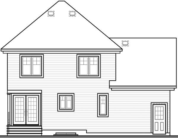 Country Victorian House Plan 65204 Rear Elevation
