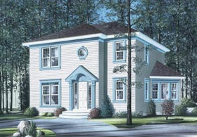 Colonial, Southern House Plan 65205 with 3 Beds, 2 Baths Elevation