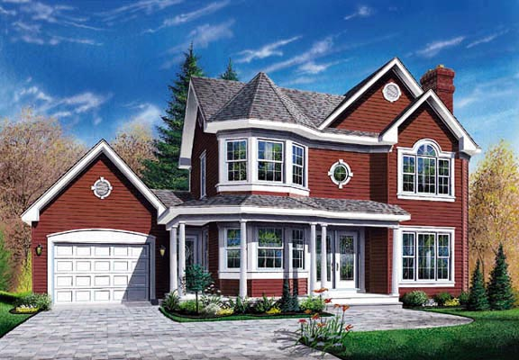 Country Farmhouse Victorian House Plan 65208 Elevation