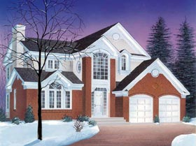 European Traditional House Plan 65212 Elevation