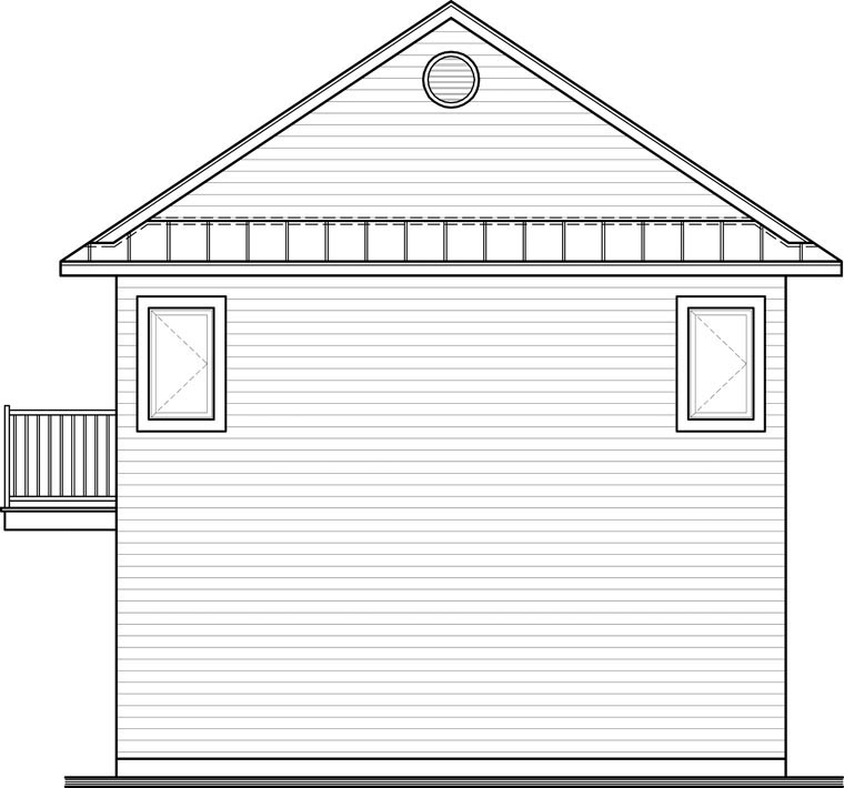 Traditional Garage Plan 65215 Rear Elevation