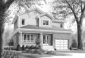 Country House Plan 65217 with 3 Beds, 2 Baths, 1 Car Garage Elevation