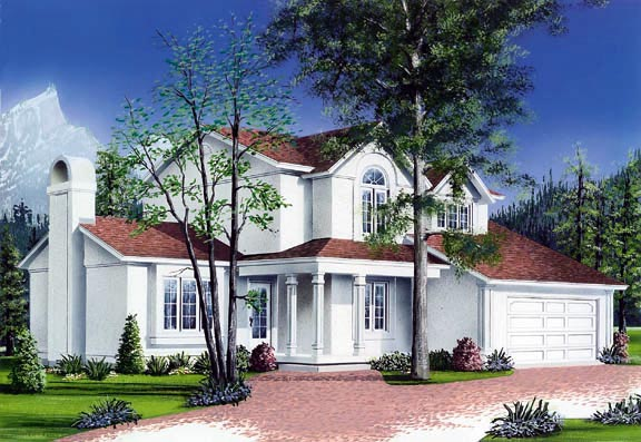 Traditional House Plan 65218 Elevation