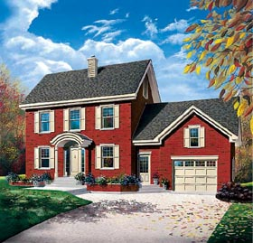 Colonial House Plan 65220 Elevation