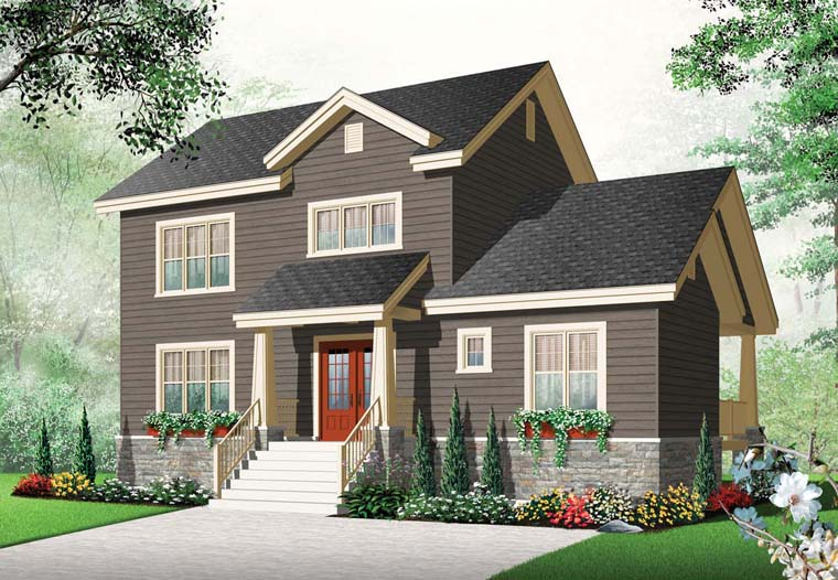 House Plan 65221 | Country Craftsman Style Plan with 1821 Sq Ft, 3 Bedrooms, 2 Bathrooms Elevation