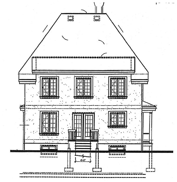 Country Victorian House Plan 65222 Rear Elevation