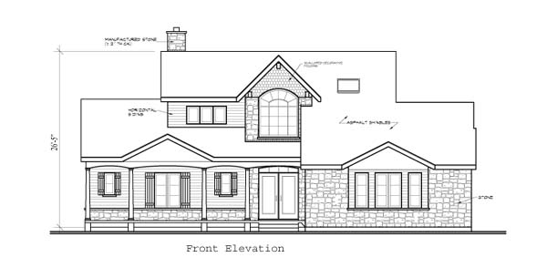 Southern Traditional House Plan 65225 Rear Elevation