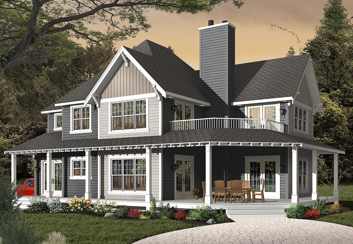Country Craftsman House Plan 65231 Elevation