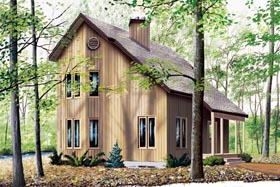 Contemporary House Plan 65232 Elevation