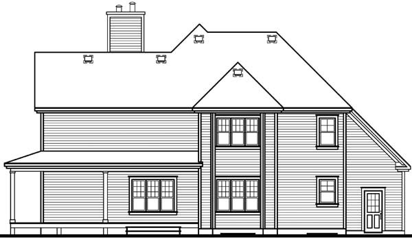 Country Traditional House Plan 65237 Rear Elevation