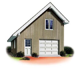 One Car Garage Plans And 1 Car Garage Building Plans With Single Bay