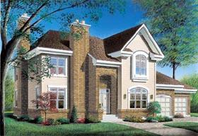 European Traditional House Plan 65239 Elevation