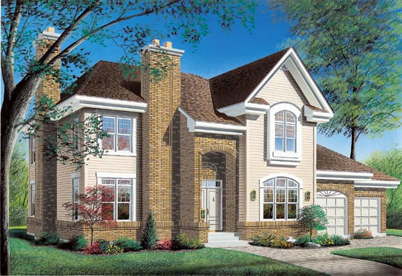 European Traditional House Plan 65239 Elevation
