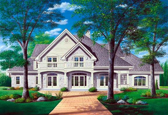 European Traditional House Plan 65240 Elevation