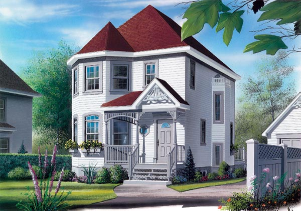 Country Victorian House Plan 65244 Elevation