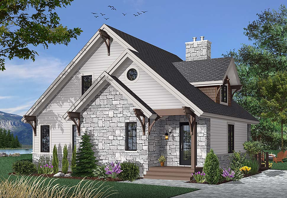 Bungalow, Cottage, Country, Craftsman House Plan 65246 with 3 Beds, 2 Baths Elevation