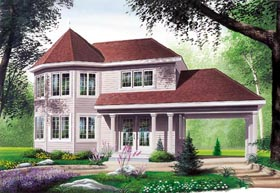 Victorian House Plan 65247 with 3 Beds, 2 Baths Elevation