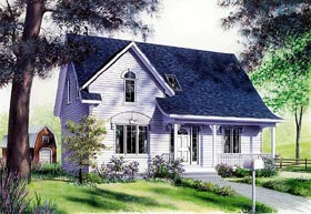 House Plan 65249 | Country Traditional Style Plan with 1494 Sq Ft, 3 Bedrooms, 2 Bathrooms Elevation