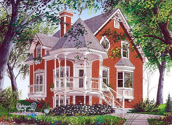 Country Farmhouse Victorian House Plan 65250 Elevation
