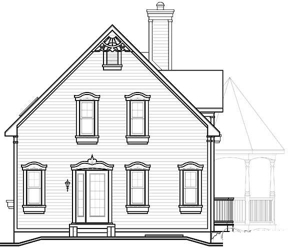 Country Farmhouse Victorian House Plan 65250 Rear Elevation