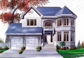 House Plan 65252 | Victorian Style Plan with 1996 Sq Ft, 3 Bedrooms, 3 Bathrooms, 2 Car Garage Elevation