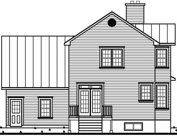 Country Victorian House Plan 65254 Rear Elevation