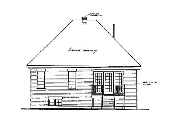 European Victorian House Plan 65262 Rear Elevation