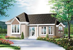 Ranch , Traditional House Plan 65265 with 2 Beds, 1 Baths Elevation