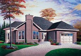 European House Plan 65270 with 2 Beds, 1 Baths, 1 Car Garage Elevation