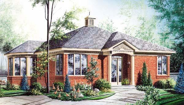 House Plan 65272 Elevation