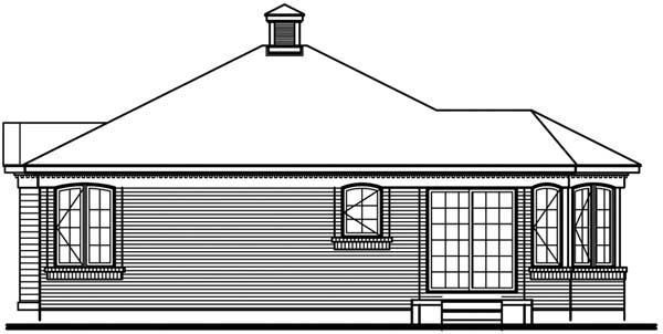House Plan 65272 Rear Elevation