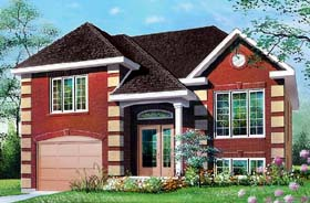 House Plan 65273 | Style House Plan with 1012 Sq Ft, 2 Bed, 1 Bath, 1 Car Garage Elevation