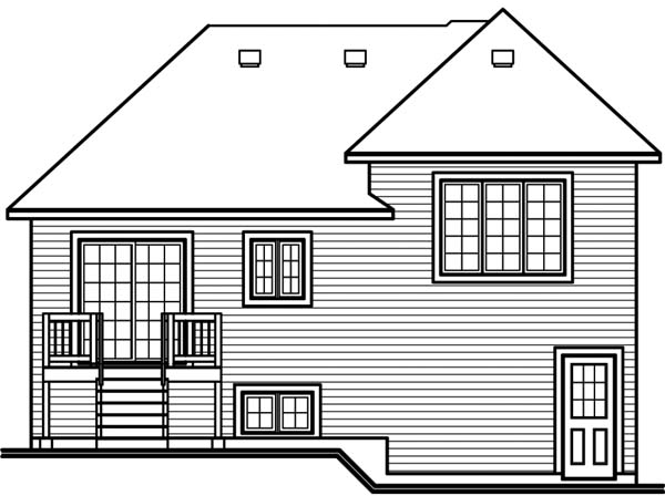 House Plan 65273 Rear Elevation