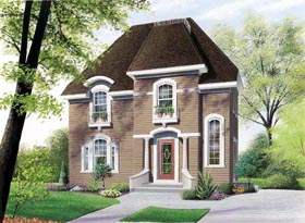 Colonial European House Plan 65276 Elevation