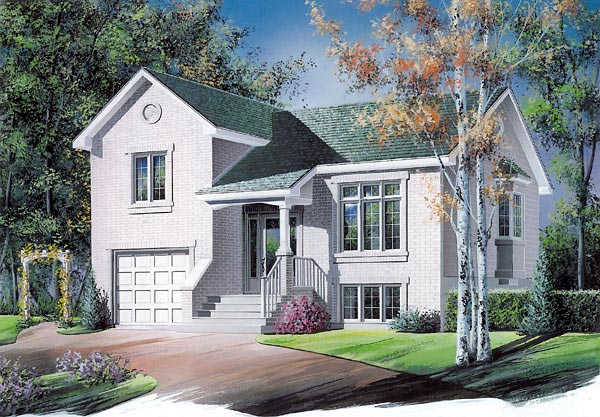 Traditional House Plan 65277 with 3 Beds, 1 Baths, 1 Car Garage Elevation