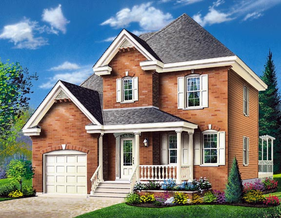 Colonial Country House Plan 65280 Elevation