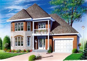 Country European House Plan 65282 Elevation