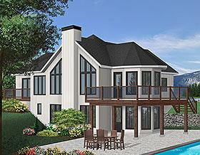 Contemporary Craftsman House Plan 65283 Elevation