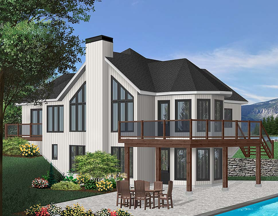 Contemporary Craftsman House Plan 65283 Elevation
