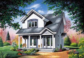 Contemporary House Plan 65286 with 3 Beds, 2 Baths Elevation