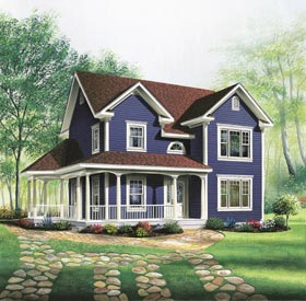 House Plan 65288 | Country Farmhouse Style Plan with 1746 Sq Ft, -1 Bedrooms, 2 Bathrooms Elevation