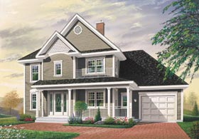 Country, Southern House Plan 65291 with 3 Beds, 2 Baths Elevation