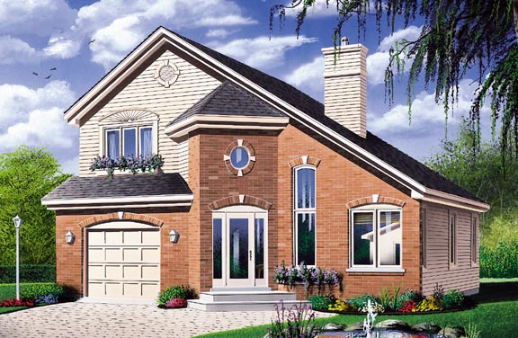 Contemporary European House Plan 65292 Elevation