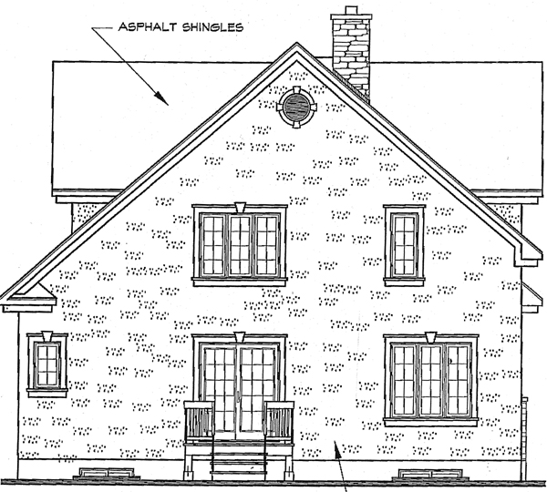 Bungalow European Traditional House Plan 65294 Rear Elevation