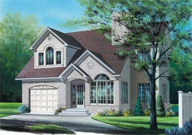 European House Plan 65304 Elevation