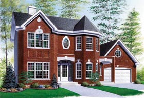 Victorian , European House Plan 65305 with 3 Beds, 3 Baths, 1 Car Garage Elevation