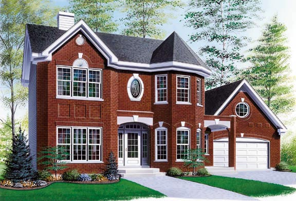 European Victorian House Plan 65305 Elevation