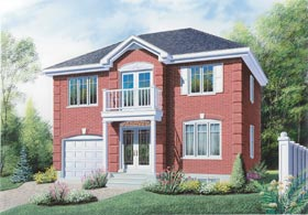 Colonial House Plan 65306 Elevation
