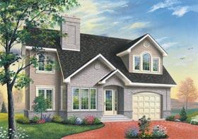 House Plan 65311 | Traditional Style Plan with 2185 Sq Ft, 3 Bedrooms, 3 Bathrooms, 1 Car Garage Elevation